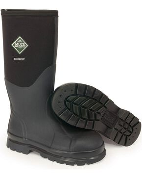 Muck Boots Chore Hi Work Boots - Steel Toe, Black, hi-res