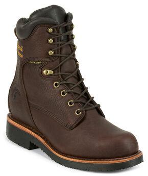 "Chippewa Men's 8"" Lace Up Boots - Round Toe, Walnut, hi-res"