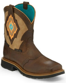 Justin Women's Lala Waterproof Western Work Boots - Composite Toe, Brown, hi-res
