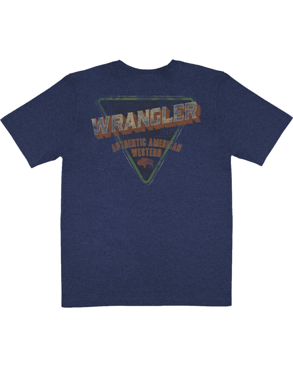 Wrangler Men's Navy Authentic American Western Tee , , hi-res
