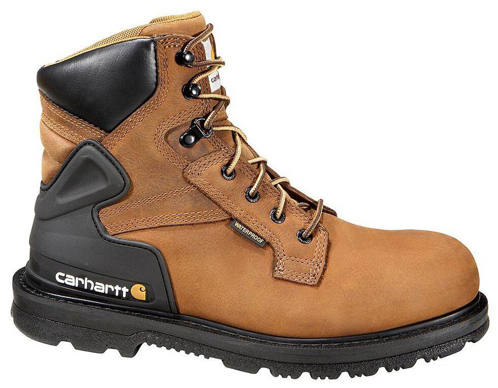 "Carhartt 6"" Waterproof Lace-Up Work Boots - Steel Toe, Bison, hi-res"