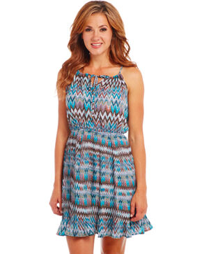 Cowgirl Up Blue Zig Zag Dress, Multi, hi-res
