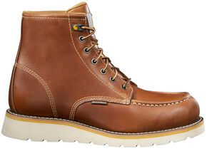 "Carhartt 6"" Tan Wedge Boots - Safety Toe, Tan, hi-res"