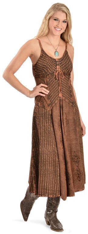 Scully Long Maxi Dress, Copper, hi-res