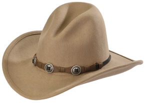 Silverado Men's Gus Crushable Wool Western Hat, Taupe, hi-res