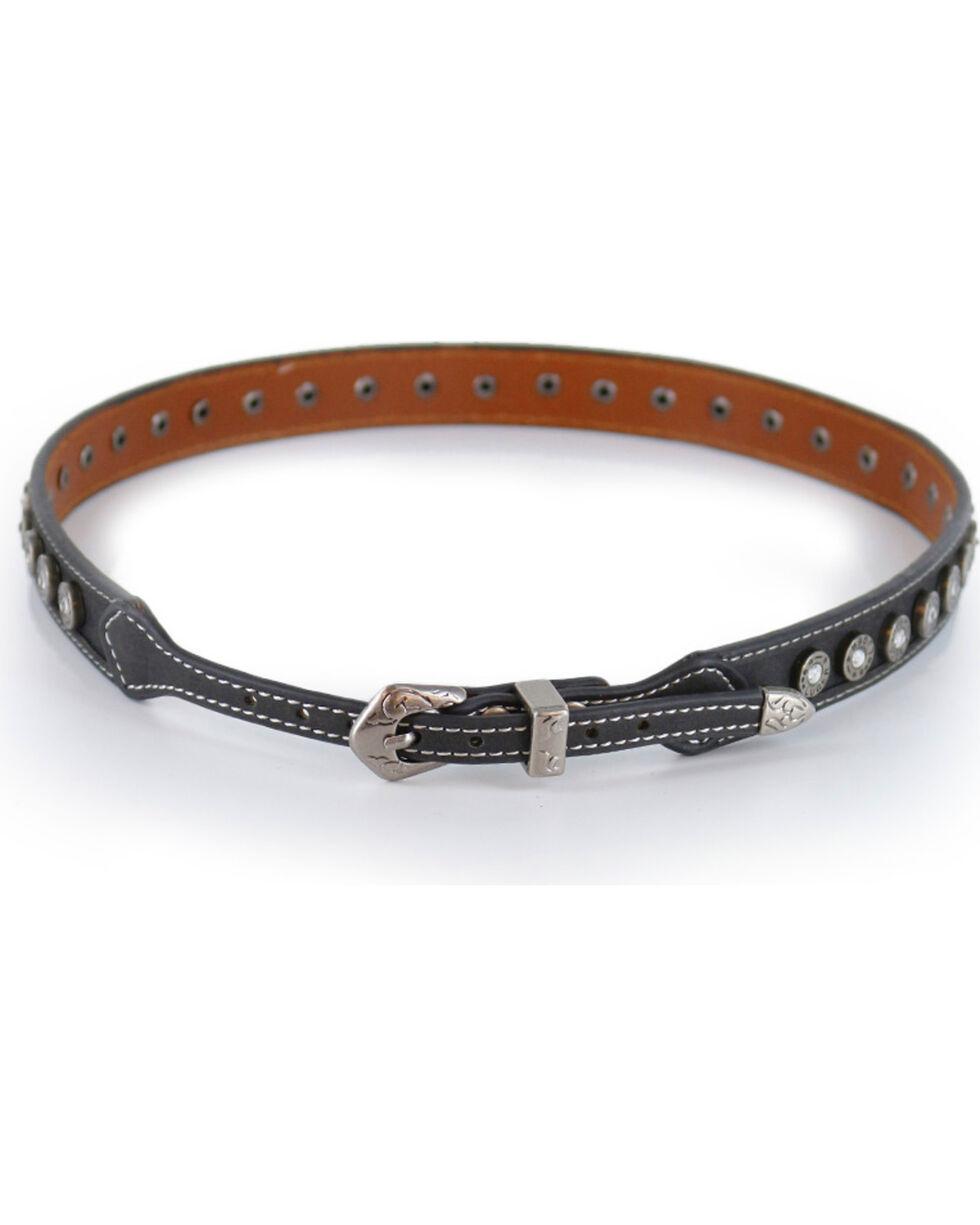 Cody James Men's Black Silver 9mm Concho Hatband, Black, hi-res