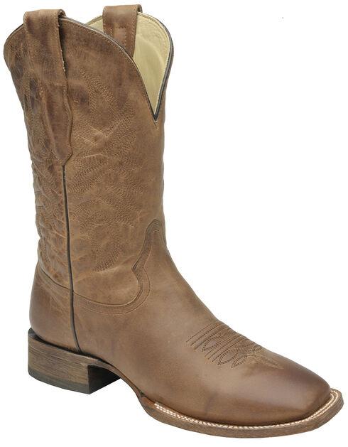 Corral Waxi Brown Cowboy Boots - Square Toe , Cognac, hi-res
