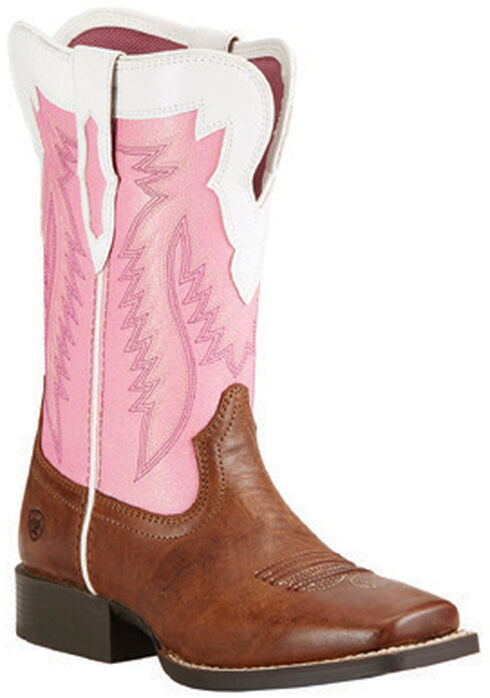 Ariat Girls' Buscadero Cowgirl Boots - Square Toe, Wood, hi-res