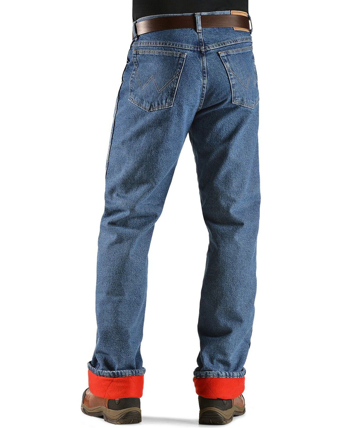 Wrangler Jeans   Rugged Wear Relaxed Fit Flannel Lined, Stonewash, Hi Res