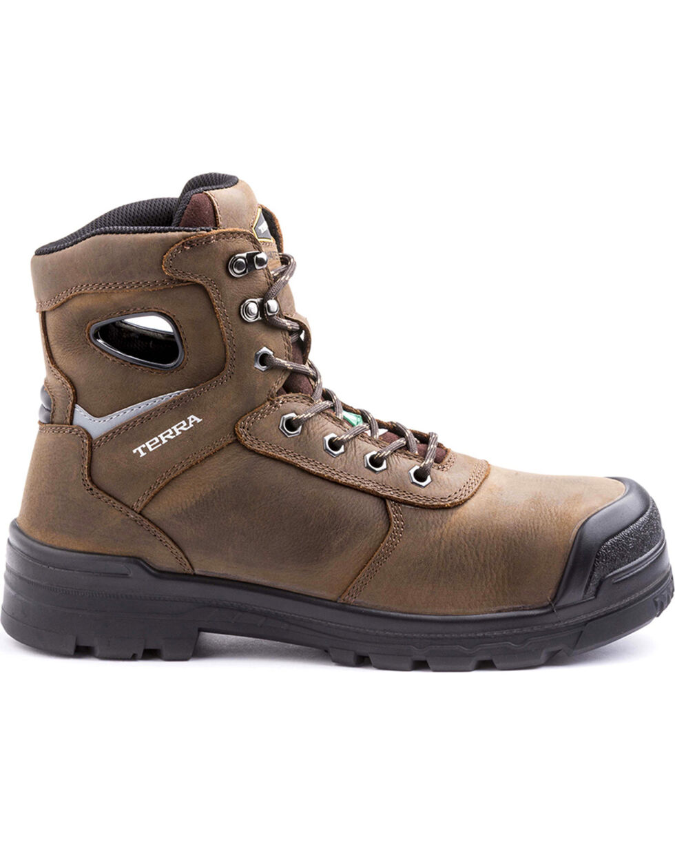 Terra Men's Marshal Work Boots - Round Composite Toe, Brown, hi-res