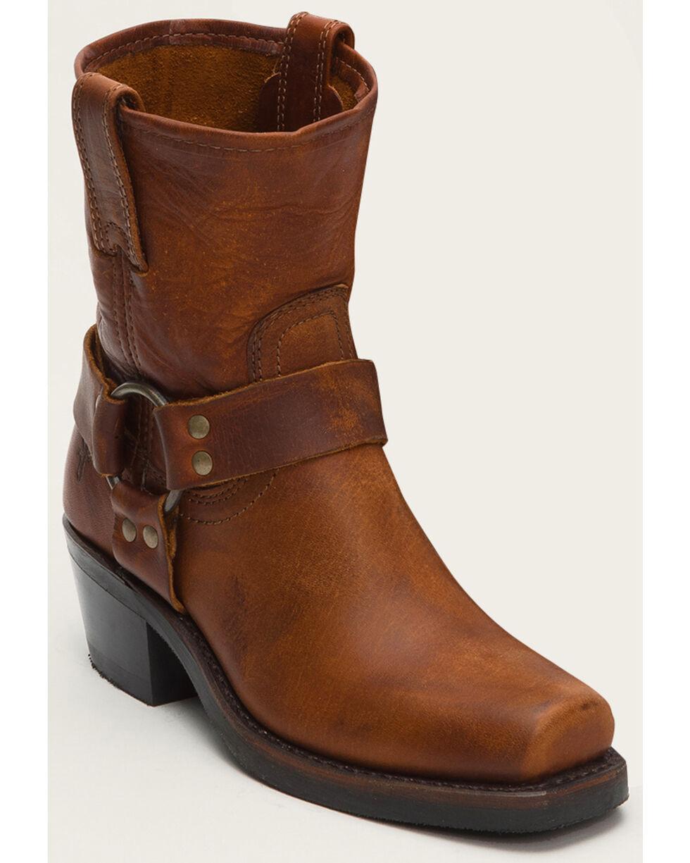 Frye Women's Harness 8R Short Boots - Square Toe , Cognac, hi-res