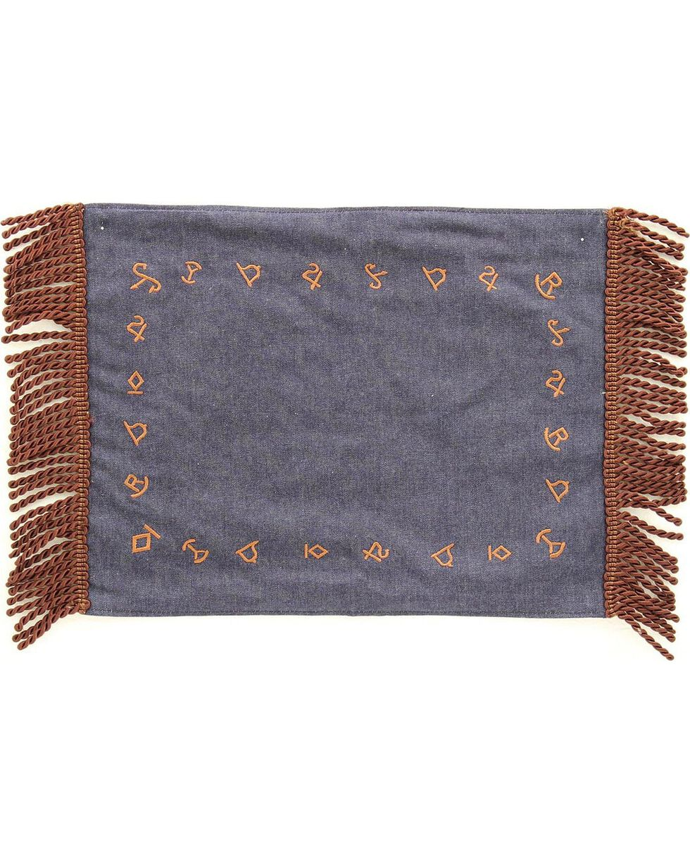 Western Moments Branded Denim Placemats - Set of 4, Multi, hi-res