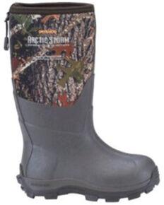 Dryshod Boys' Camo Arctic Storm Rubber Boots - Soft Toe, Camouflage, hi-res