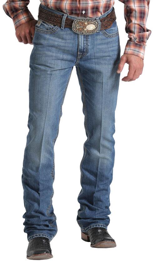 Cinch Men's Indigo Ian Mid-Rise Slim Fit Jeans - Boot Cut , Indigo, hi-res