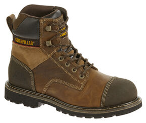 """Caterpillar Traction 6"""" Work Boots - Steel Toe, Beige, hi-res"""