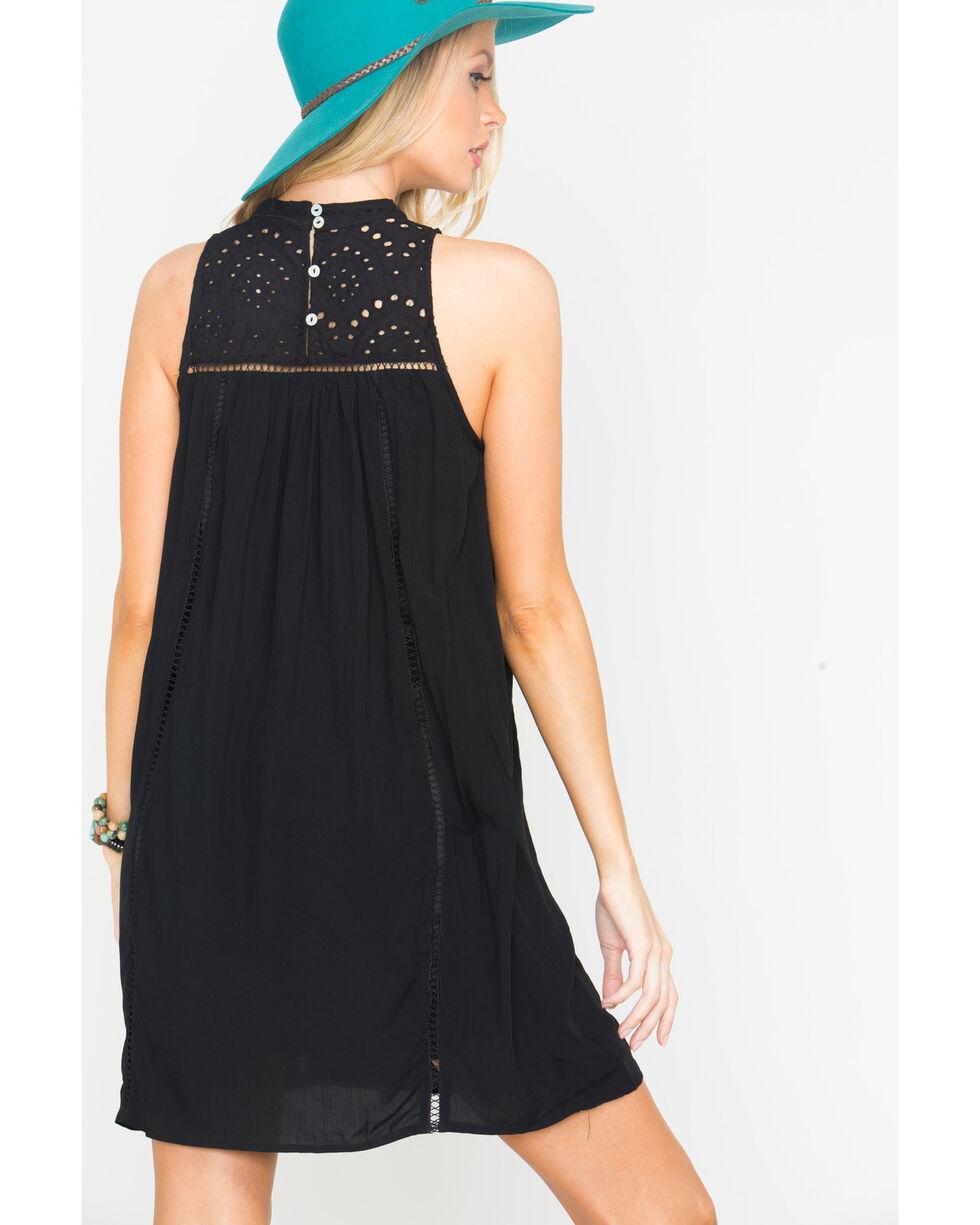 Blush Noir Women's Black Rain Drop Lace Dress , Black, hi-res