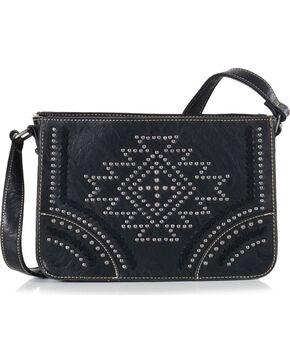 Montana West Women's Black Southwestern Collection Messenger Bag , Black, hi-res