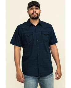 Moonshine Spirit Men's Daisy Luck Floral Print Short Sleeve Western Shirt , Black, hi-res