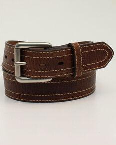Ariat Men's Double Stitched Western Belt, Brown, hi-res