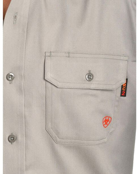 Ariat Flame Resistant Solid Work Shirt, Silver, hi-res