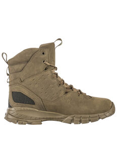 "5.11 Tactical Men's Waterproof 6"" Lace Up Boots, Dark Coyote, hi-res"