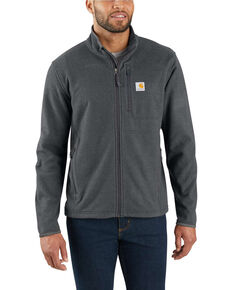 Carhartt Men's Dalton Full-Zip Fleece Work Jacket, Heather Grey, hi-res