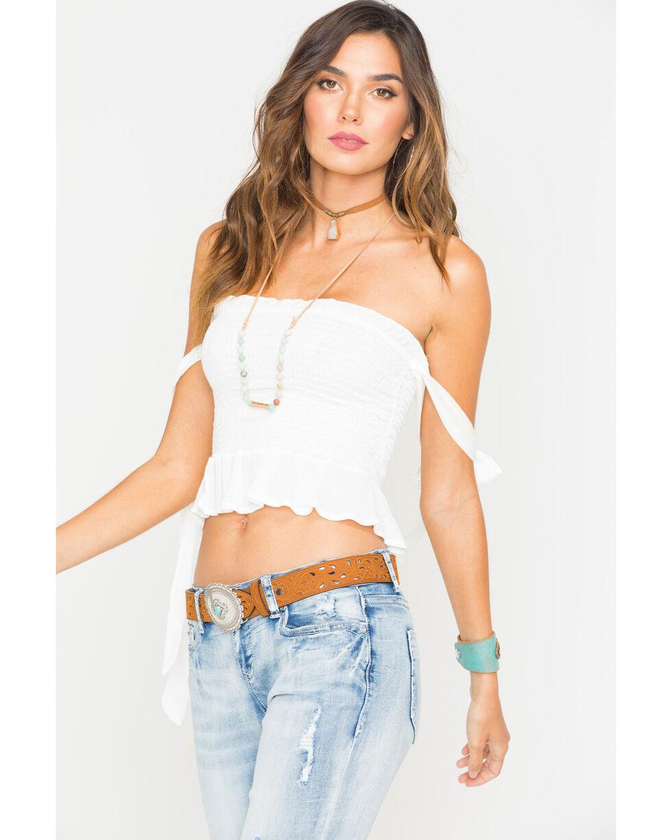 Sage the Label Women's Daytripper Off Shoulder Top , White, hi-res