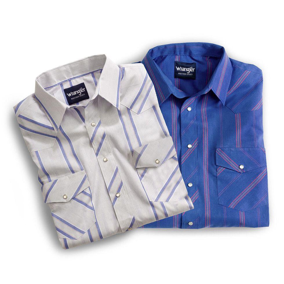 Wrangler Men's Short Sleeve Shirts - Big & Tall, Plaid, hi-res