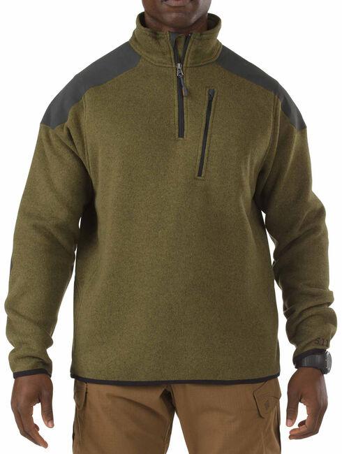 5.11 Tactical 1/4 Zip Sweater Fleece, Green, hi-res
