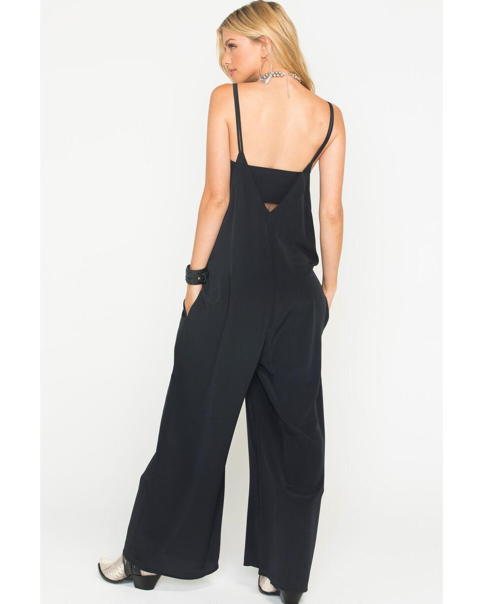 Jack Women's Black Agnesi Hammered Crepe Jumpsuit , Black, hi-res