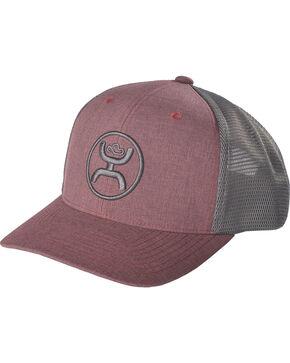 Hooey Men's Cody Ohl Trucker Cap, Maroon, hi-res