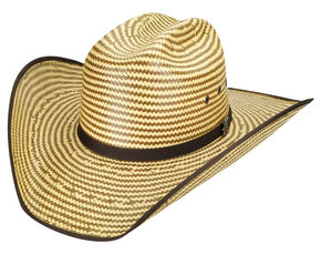 Bailey Men's Western Keel II Rodeo Two-Tone Straw Hat, Cork, hi-res