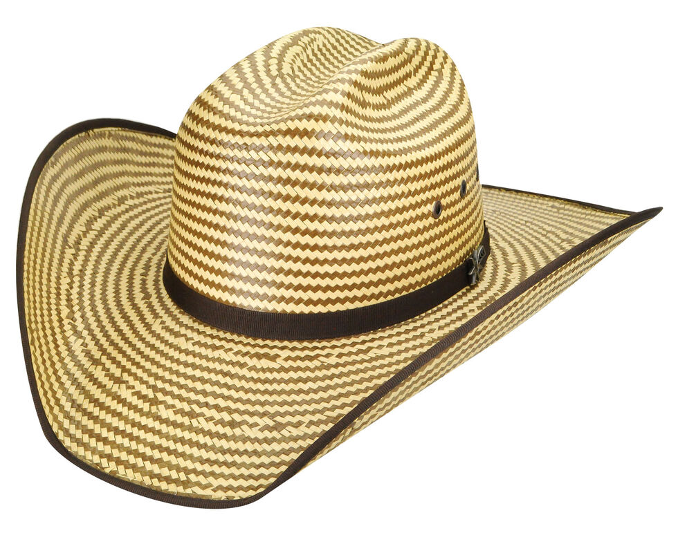 Bailey Men's Western Keel II Rodeo Two-Tone Straw Hat, Cork, hi-res