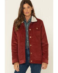 Ariat Women's Rustic Corduroy Trucker Jacket , Rust Copper, hi-res