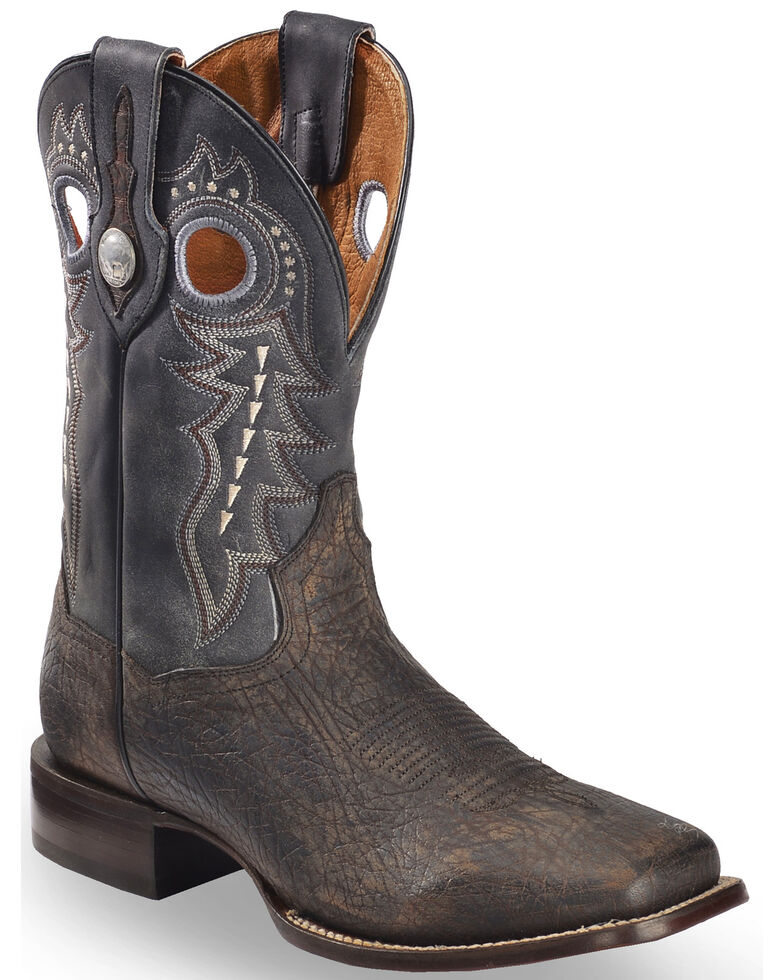 reputable site attractive & durable promo code Dan Post Men's Badlands Distressed Leather Cowboy Boots - Square Toe