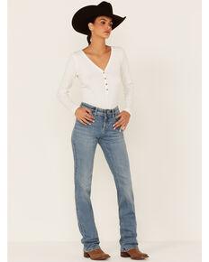 Wrangler Women's Amy Light Wash Bootcut Jeans, Light Blue, hi-res