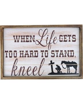 BB Ranch When Life Gets Too Hard Wooden Sign, No Color, hi-res