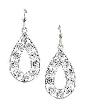 Montana Silversmiths Women's Radiant Teardrop Earrings , Silver, hi-res