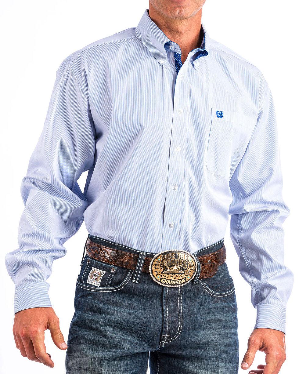 Cinch Men's Blue Mini Stripe Patterned Shirt , , hi-res