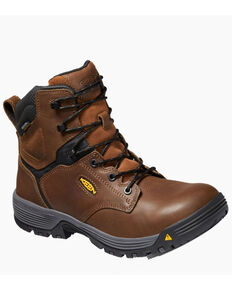 Keen Men's Chicago Waterproof Work Boots - Composite Toe, Brown, hi-res