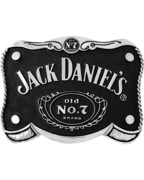 Western Express Men's Black Jack Daniel's Belt Buckle , Black, hi-res