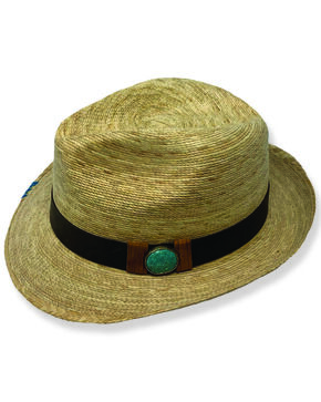 Atwood Kelsey Hand-Laced Edge Fedora, Natural, hi-res