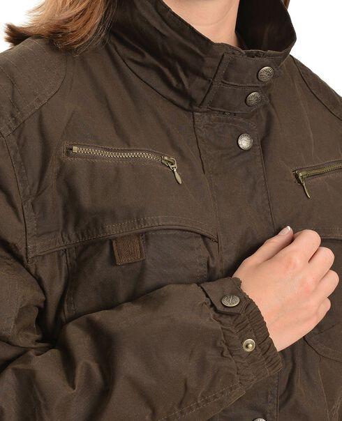 Outback Trading Co. Oilskin Zipper Jacket, Bronze, hi-res