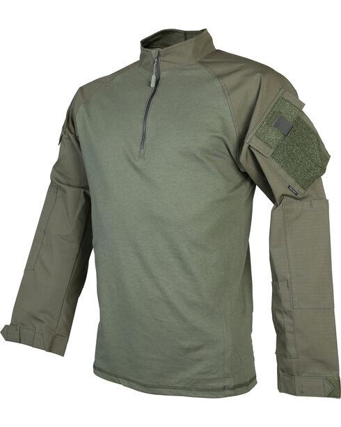 Tru-Spec Men's T.R.U. 1/4 Zip Combat Shirt - Tall, Green, hi-res