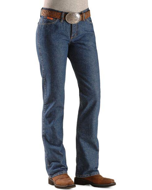 Wrangler Women's Flame Resistant Work Jeans, Denim, hi-res
