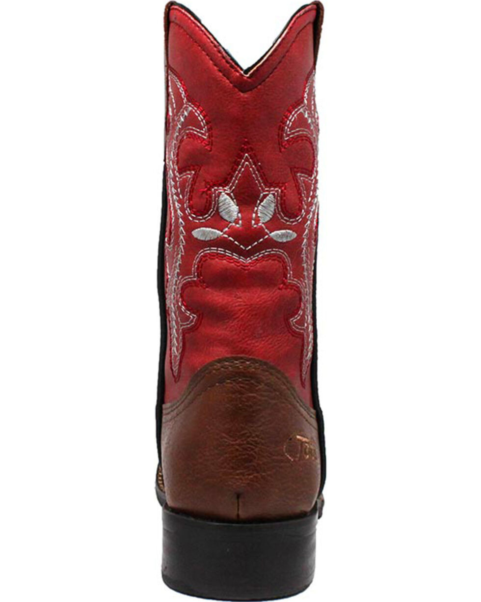 "Ad Tec Girls' 8"" Pull On Western Boots  , Brown, hi-res"