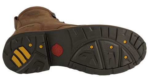 "Justin Wyoming Waterproof 8"" Lace-Up Work Boots - Steel Toe, Brown, hi-res"