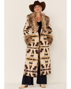 Tasha Polizzi Women's Ivory Frontier Blanket Coat , Ivory, hi-res