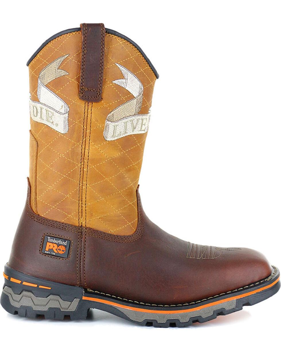 Timberland Men's Waterproof Work Boots - Square Toe , Orange, hi-res