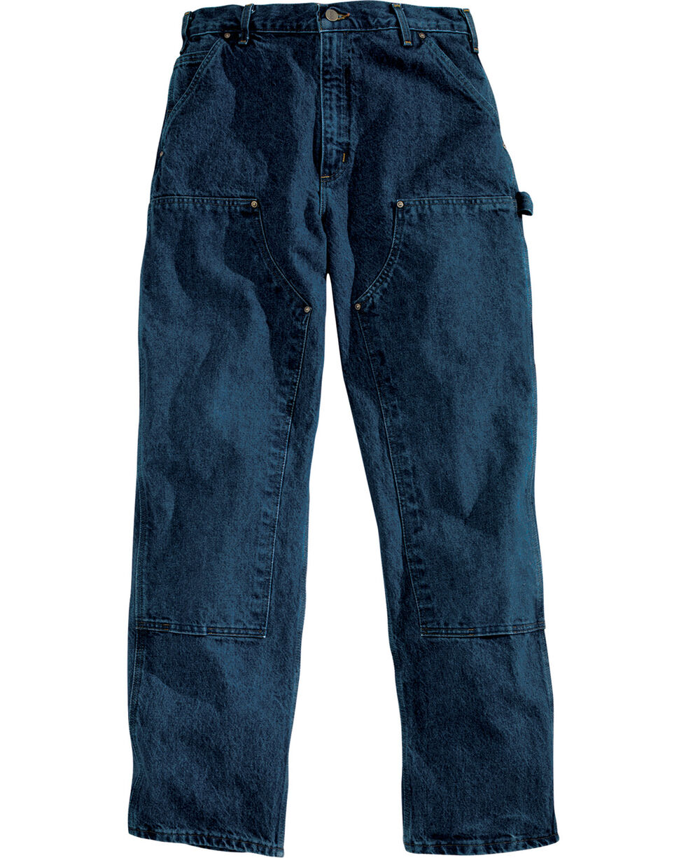 Carhartt Men's Double-Front Logger Relaxed Fit Jeans, Blue, hi-res